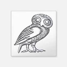 """Athenas Owl Square Sticker 3"""" x 3"""""""