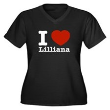 I Love Lilliana Women's Plus Size V-Neck Dark T-Sh