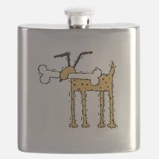 funny dog with bone.psd Flask
