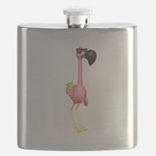 funny flamingo with drink.png Flask