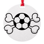 soccer ball.png Round Ornament