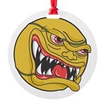 angry tennisball.jpg Round Ornament