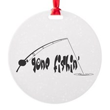 gone fishin copy.jpg Ornament