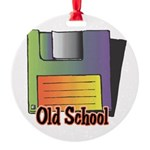 old school floppy disk copy.jpg Round Ornament
