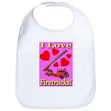 I Love Firetrucks Bib
