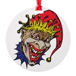laughing evil clown.png Round Ornament