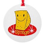 spongehahaha copy.jpg Round Ornament