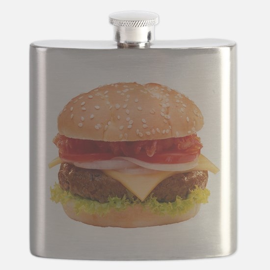 yummy cheeseburger photo Flask