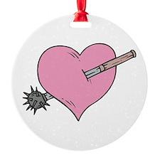 heart with mace copy.jpg Ornament