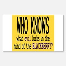 Who knows what evil lurks Rectangle Decal