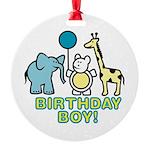 birthday boy copy.jpg Round Ornament