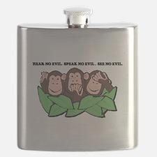 THREE MONKEYS NO EVIL.psd Flask