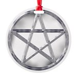 pentcle.jpg Round Ornament