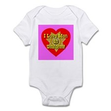 I Love Men In Uniform Infant Creeper