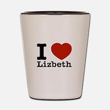I Love Lizbeth Shot Glass