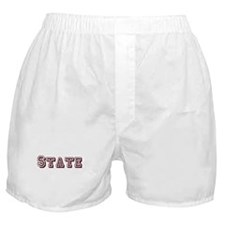 Maroon State Logo Boxer Shorts