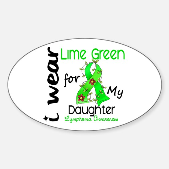 I Wear Lime 43 Lymphoma Sticker (Oval)
