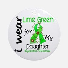 I Wear Lime 43 Lymphoma Ornament (Round)