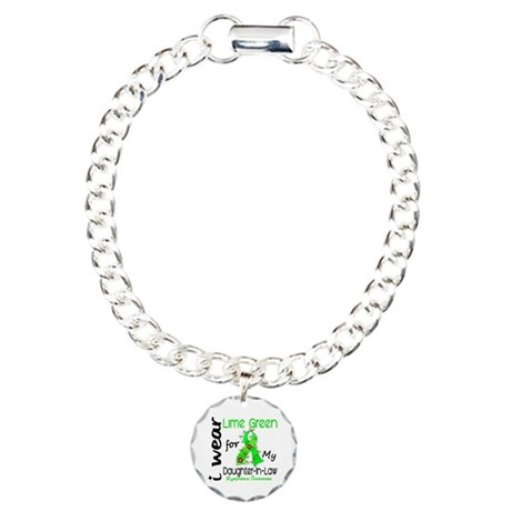 I Wear Lime 43 Lymphoma Charm Bracelet, One Charm