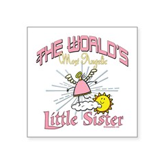 Angelic Little Sister Square Sticker 3
