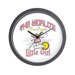 Angelic Little Girl Wall Clock