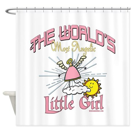 Angelic Little Girl Shower Curtain By Justforher