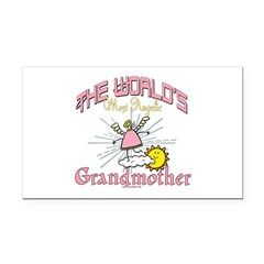 Angelic Grandmother Rectangle Car Magnet