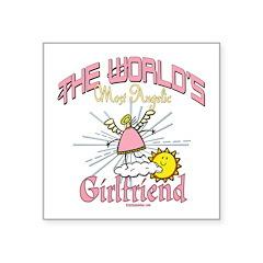 Angelic Girlfriend Square Sticker 3