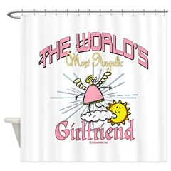 Angelic Girlfriend Shower Curtain
