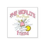Angelic Friend Square Sticker 3