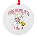 Angelic Friend Round Ornament