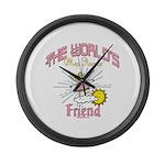 Angelic Friend Large Wall Clock