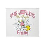 Angelic Friend Throw Blanket