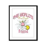 Angelic Friend Framed Panel Print