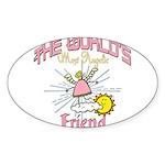 Angelic Friend Sticker (Oval 10 pk)