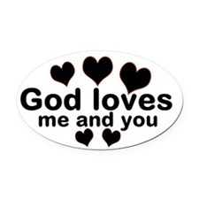 Love Is The Answer Oval Car Magnet