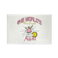 Angelic Aunt Rectangle Magnet