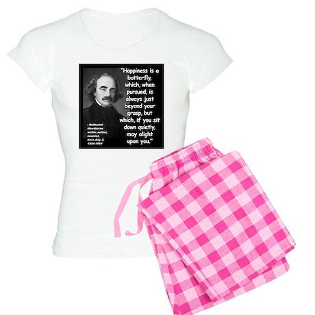 Hawthorne Happiness Quote 2 Women's Light Pajamas