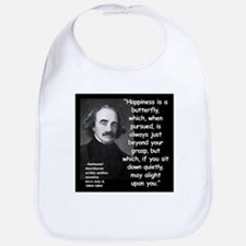 Hawthorne Happiness Quote 2 Bib