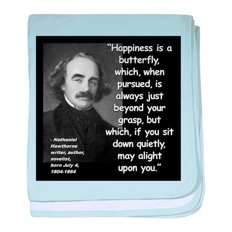 Hawthorne Happiness Quote 2 baby blanket