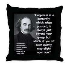 Hawthorne Happiness Quote 2 Throw Pillow