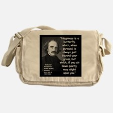Hawthorne Happiness Quote 2 Messenger Bag