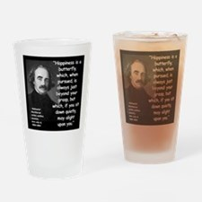 Hawthorne Happiness Quote 2 Drinking Glass
