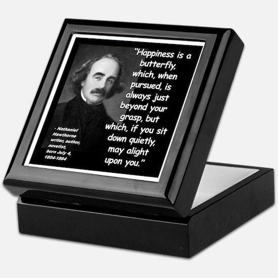 Hawthorne Happiness Quote 2 Keepsake Box