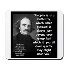 Hawthorne Happiness Quote 2 Mousepad
