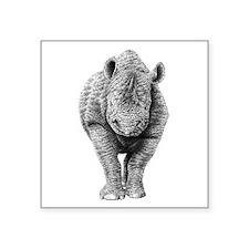 "Black Rhino Square Sticker 3"" x 3"""