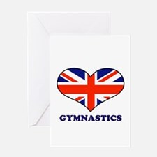 LOVE GYMNASTICS Greeting Card