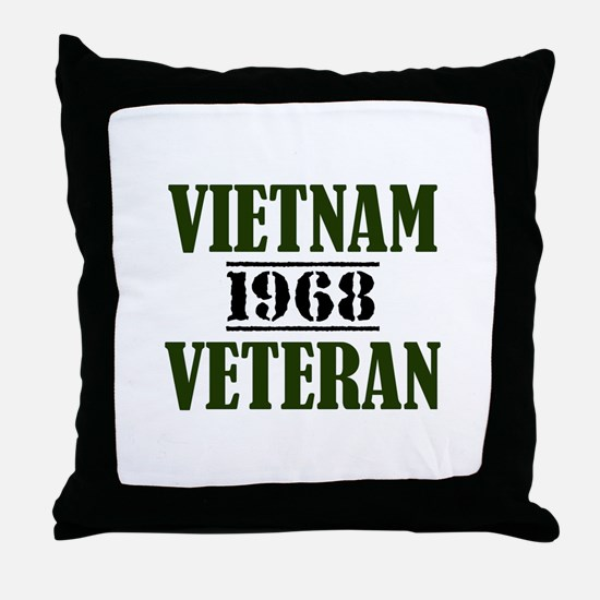 VIETNAM VETERAN 68 Throw Pillow