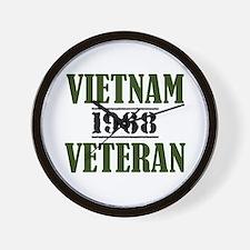 VIETNAM VETERAN 68 Wall Clock