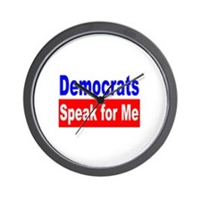 Democrats Speak For Me Wall Clock